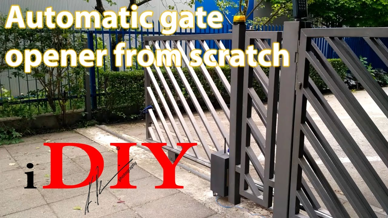 Diy Rolling Fence Gate Diy Gate Remote Opener For Under 50