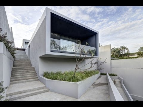 la house modern box house designed with beautiful modern ladscape design youtube. Black Bedroom Furniture Sets. Home Design Ideas