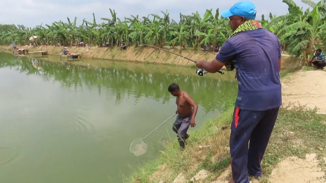 Ideal Fish Catching By Fishing Rod On Villages