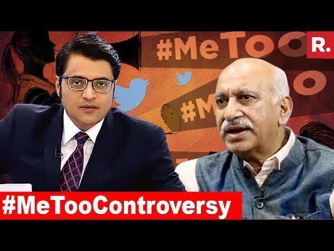 Will MJ Akbar Step Down? | The Debate With Arnab Goswami