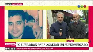 Habla el padre del policía asesinado en San Miguel