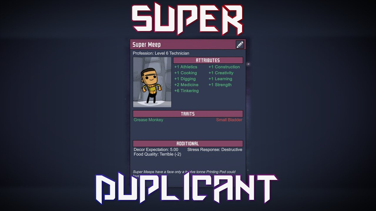 Super-Duper Duplicant Challenge! Oxygen Not Included