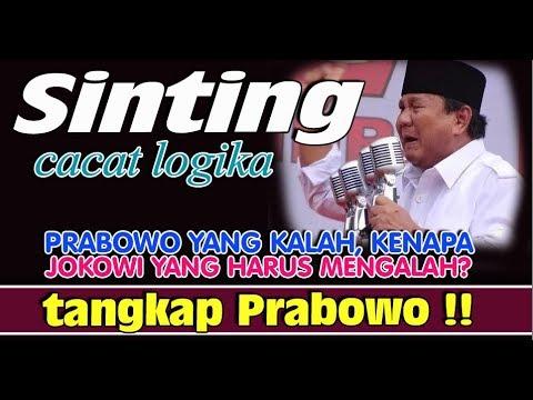 Prabowo Yang Kalah, Kenapa Jokowi Yang Harus Mengalah? Tangkap Prabowo!