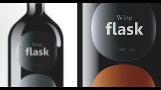 Package Design | Adobe Illustrator | Wine Flask