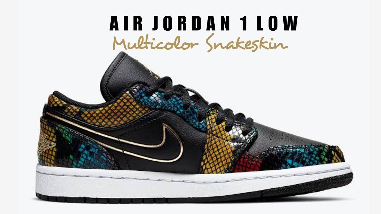 Air Jordan 1 Low Multicolor Snakeskin First Look Release Date