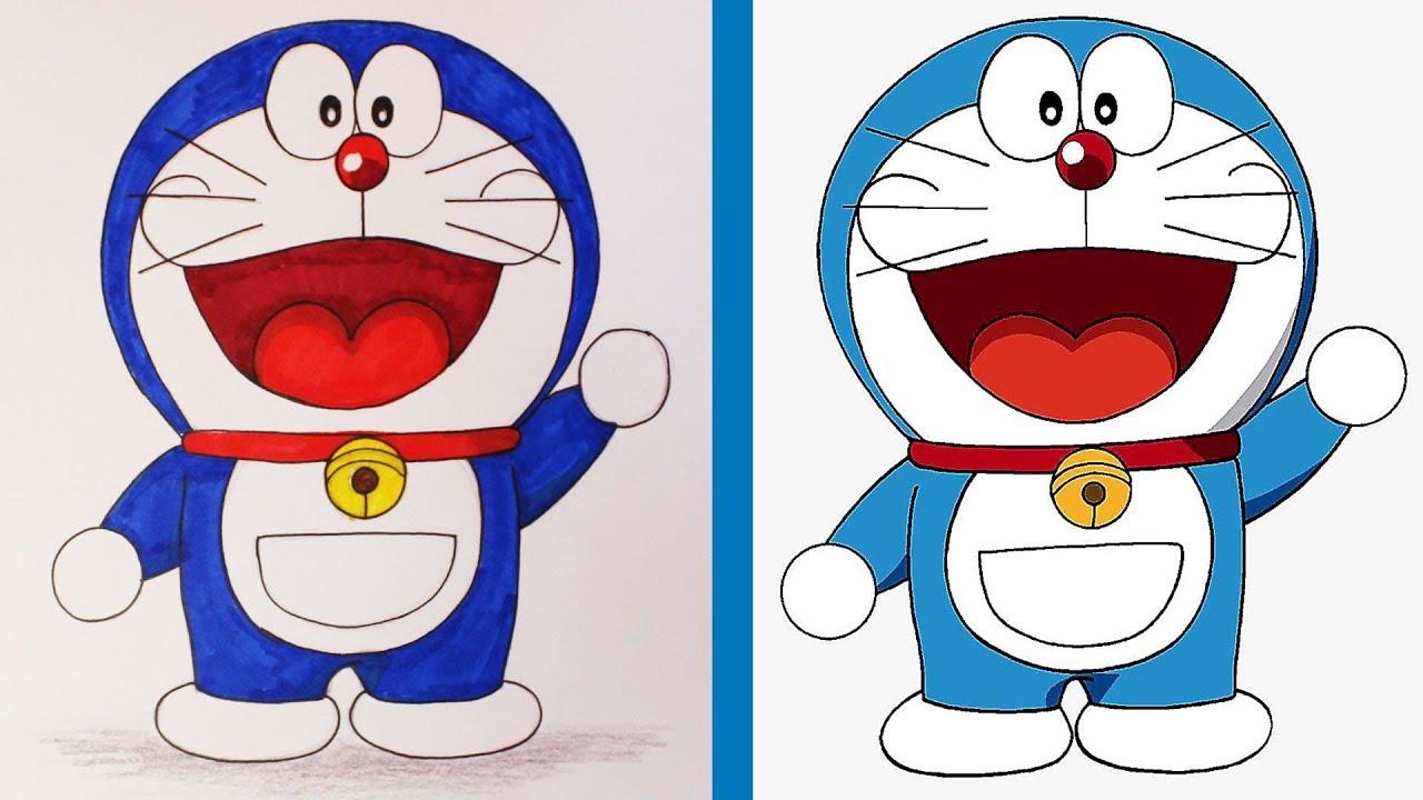 Vẽ hình Doraemon bằng bút chì #3