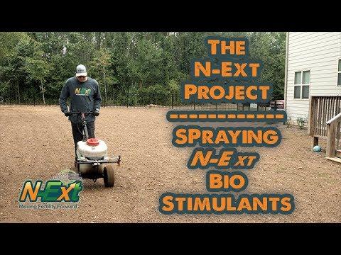 Spraying N-Ext Bio-Stimulants // N-Ext Lawn Renovation
