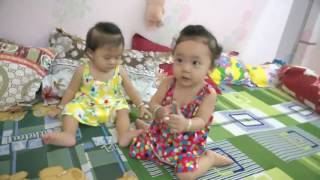 Clip Hài hước - Dễ thương : clip em bé hài hước, nghịch nhau và cái kết