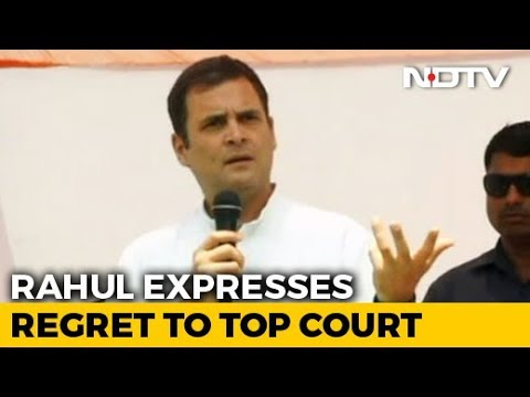 Rahul Gandhi Expresses Regret To Top Court On Remarks On Its Rafale Order