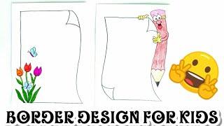 2 Border Designs/ Border Designs for Project/ Quick and Easy Border Designs