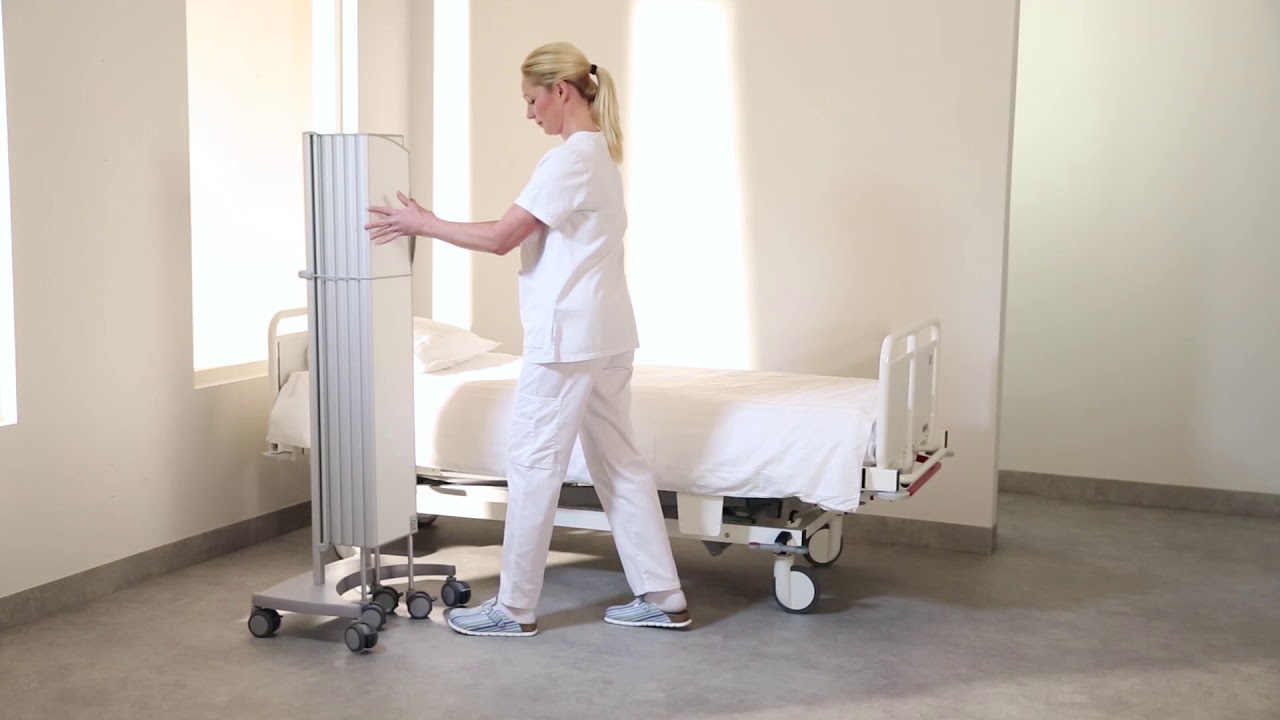 Folding privacy screen/room divider for the hospital ward – Silentia