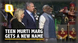 PM Modi, Israel PM Benjamin Netanyahu Arrive for Teen Murti Chowk Event | The Quint