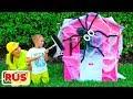 Влад и Никита играют с детскими игрушечными домиками | Подборка видео для детей