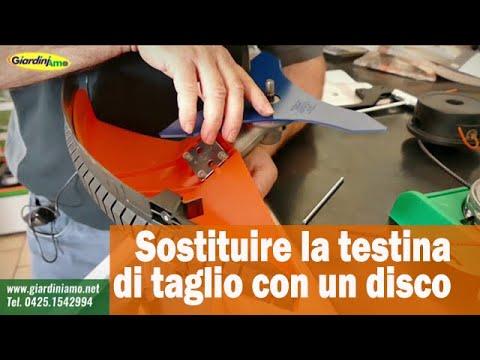 Come sostituire nel decespugliatore la testina di taglio con un disco
