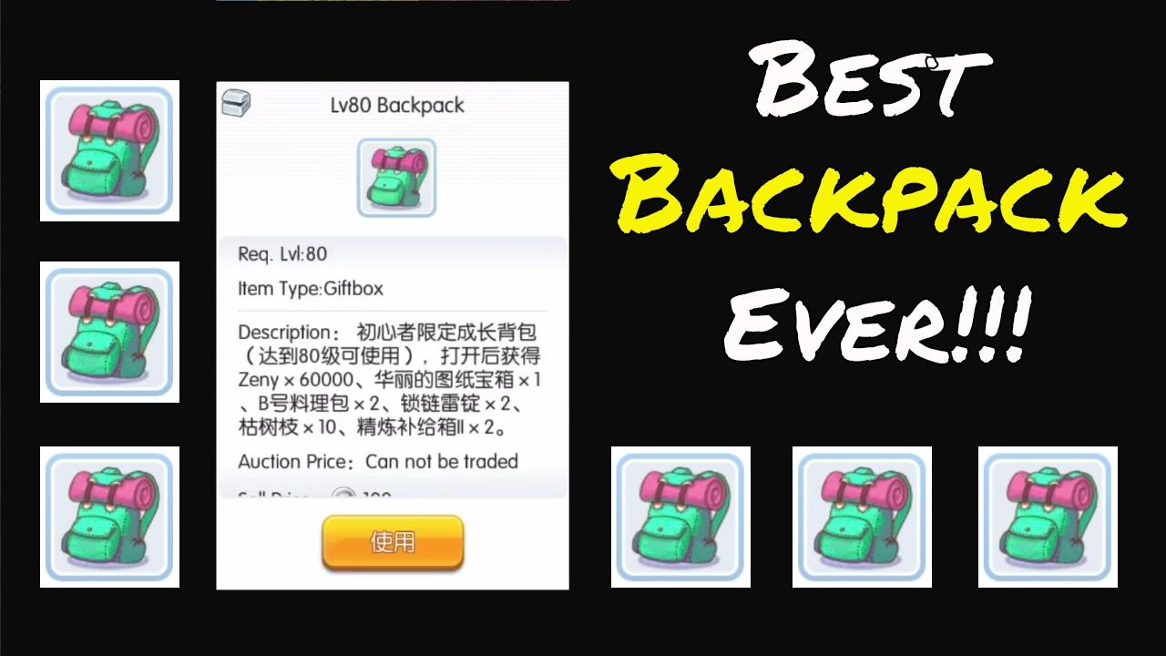 Ragnarok Mobile Lv80 Backpack Opening Recipe For Aoa
