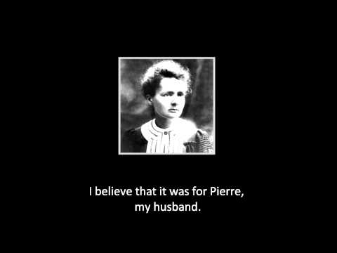 Interview to Marie Curie