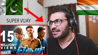 REACTION ON  Theri Official Trailer | 2K | Vijay, Samantha, Amy Jackson