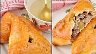 Как приготовить эчпочмак (треугольные пирожки с картошкой и мясом)(Как приготовить эчпочмак (треугольные пироги с картошкой и мясом) Ингредиенты: Тесто: Мука - 850 гр., Молоко..., 2014-01-31T02:48:30.000Z)