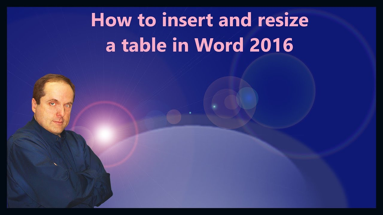 How to insert and resize a table in word 2016 youtube for Table design on word