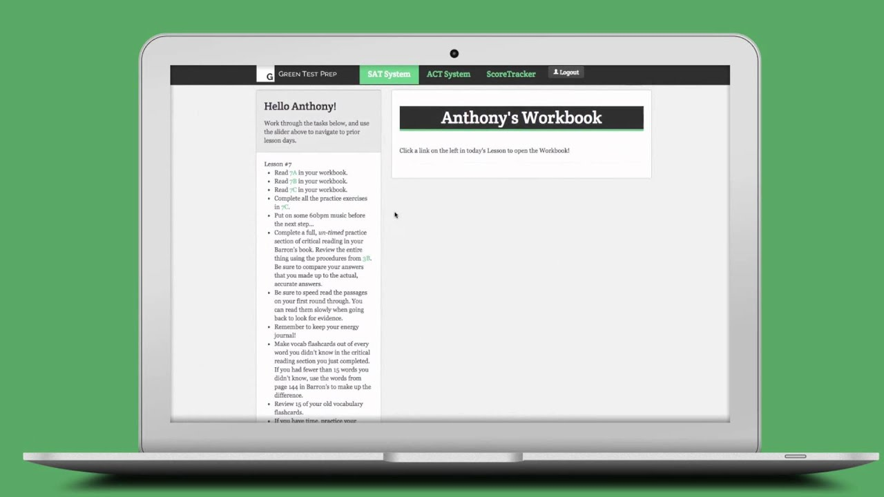 Green Test Prep Review How Online Act And Sat Prep Works Old