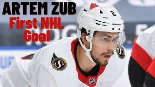 Artem Zub #2 (Ottawa Senators) First NHL Goal 15/02/2021