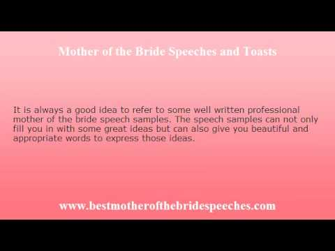 Mother Of The Bride Toast - How To Make It Memorable - Youtube