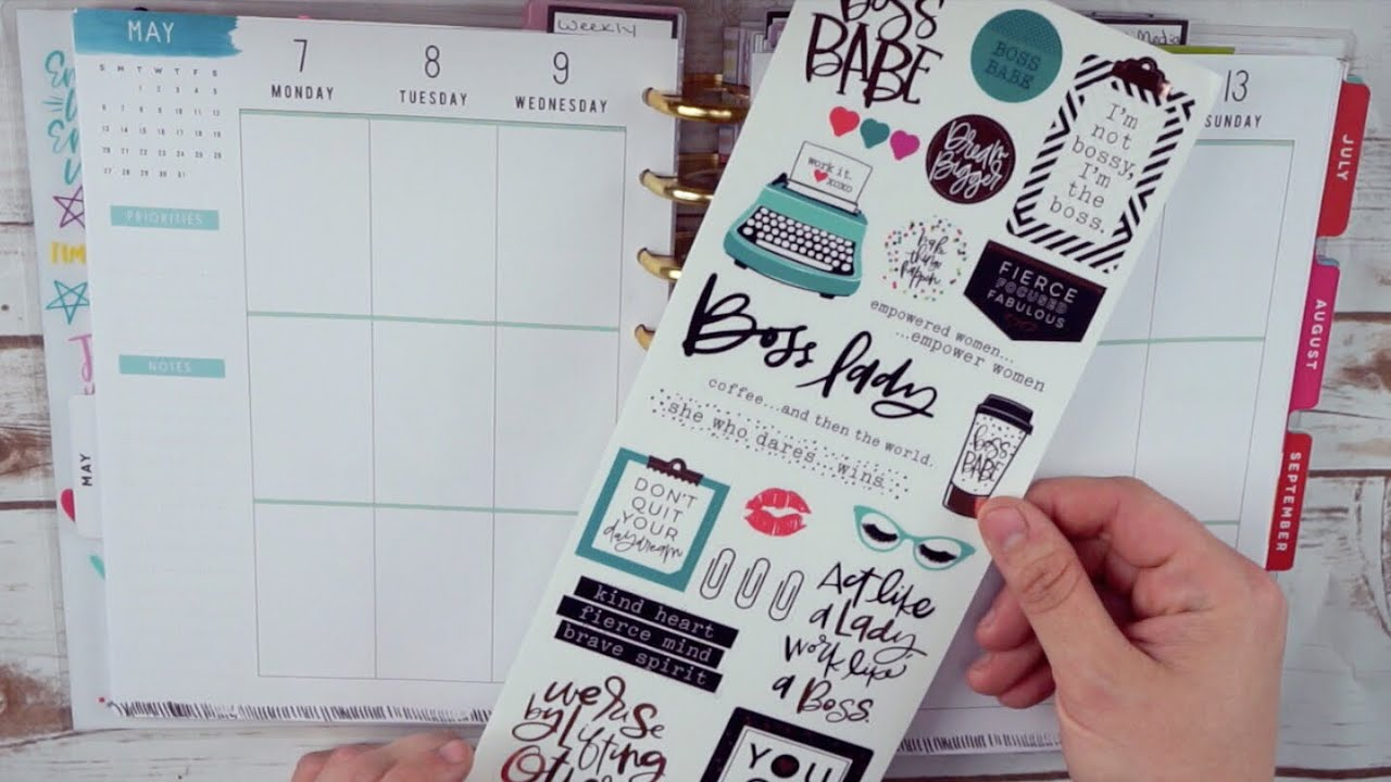 Plan With Me Boss Babe The Happy Planner Classic Happy Planner Pwm May 7 May 13
