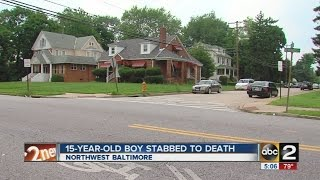 15 Year old boy stabbed to death in Northwest Baltimore