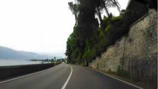 Driving along the eastern shore of Garda lake, Italy. Part 1