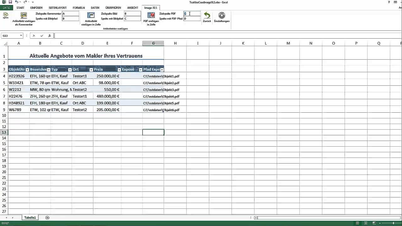 PDF Dateien in Excel Tabellen einfügen, Bilder in Excel, PDF in ...