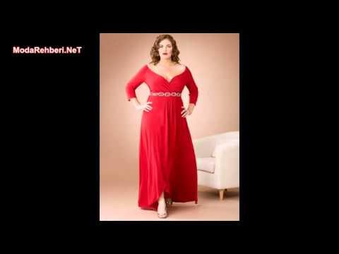 Büyük beden elbise modelleri 2017 - 2018