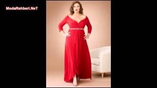 Büyük beden elbise modelleri 2019 - 2020