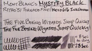 Ink Review: MontBlanc Mystery Black Ink