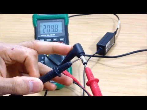 Test A Laptop Charger Adaptor With A Digital Multimeter
