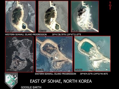 North Korea creating artificial islands to use as military bases