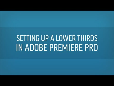Free Premiere Lower Thirds