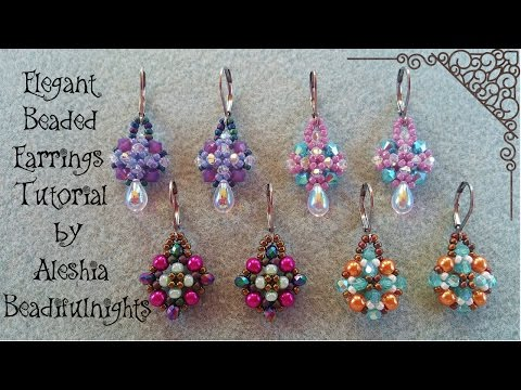 Elegant Beaded Earrings Tutorial Updated