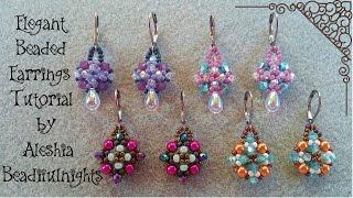 Elegant Beaded Earrings Tutorial Updated