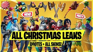 *NEW* ALL Christmas Leaked Skins & Emotes! (Minty Elf, Polar Ace Set, Frozen Fishsticks, Snow Day)
