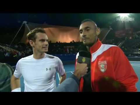 [HD] Roger Federer & Andy Murray Interview IPTL Dubai 2015