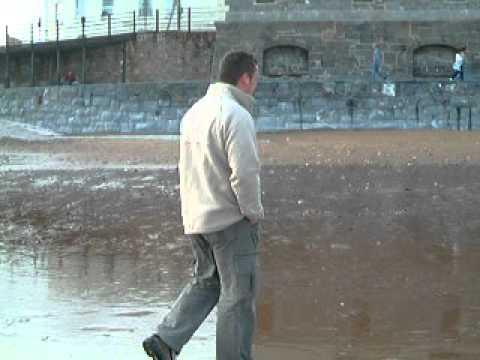 Alan, ollie libby on Devon beach sep 2004