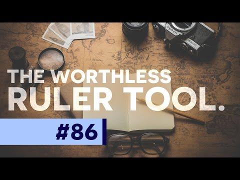 The WORTHLESS Ruler Tool - Photoshop CC