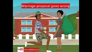 Marriage proposal gone wrong Funny Cartoon Mrcalebtoons