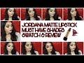 Jordana Matte Lipstick || Must have Shades | Lip Swatch & Review || @ বাংলা ❤