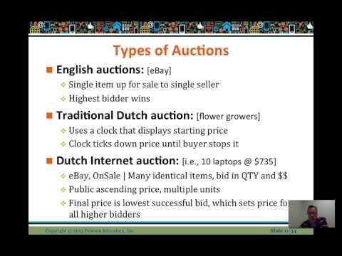 ECommerce Auctions Lesson - video lesson 11 - Prof. LeeBogner - #HUIT076