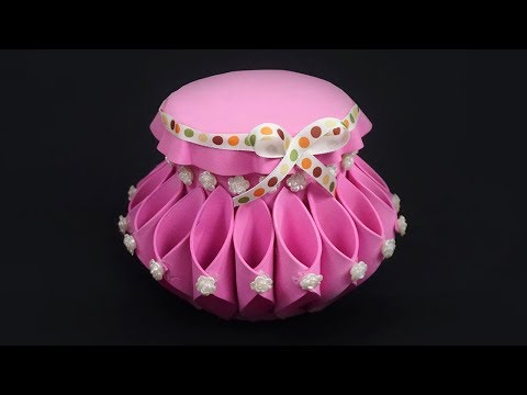 How to Make Jewellery Basket   Jewellery Organizer   Jewellery Box
