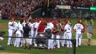 The St Louis Cardinals clinch the 2013 NL Central Division