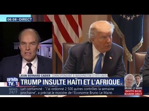 """Donald Trump qualifie Haïti et des nations africaines de """"pays de merde"""""""