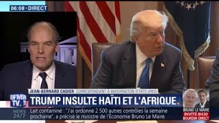 "Donald Trump qualifie Haïti et des nations africaines de ""pays de merde"""
