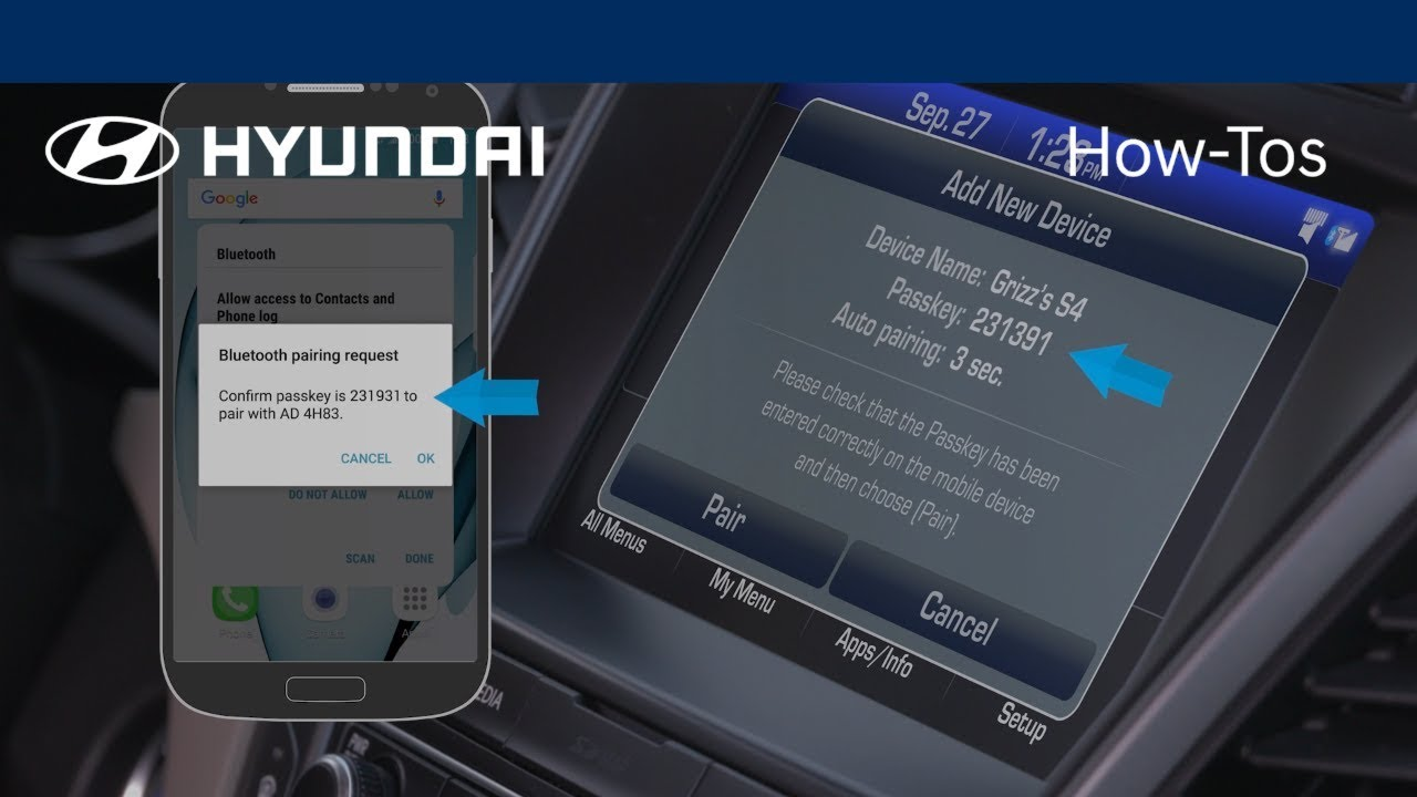 How to Pair Bluetooth on an Android Using Navigation | Hyundai How-To |  Hyundai